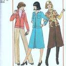 Simplicity 7801 Misses Jacket Pantskirt 70s Sewing Pattern Size 14, 16