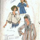 Simplicity 7811 Misses Tops Hood 70s Vintage Sewing Pattern Size 14