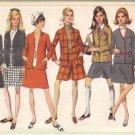 Simplicity 7812 Misses 60s Jacket Skirt Pantskirt Sewing Pattern Sz 12