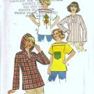 Simplicity 7851 Misses Pullover Top 70s Vintage Sewing Pattern Size 10