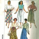 Simplicity 7858 Misses Skirt 80s Sewing Pattern Size 6-8, 10-12, 14-16