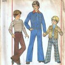 Simplicity 7873 Boys Jacket, Pants 70s Sewing Pattern Size 10, 12