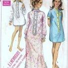 Simplicity 7912 Misses Nightshirt 60s Vintage Sewing Pattern Sz 12 14