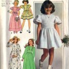 Simplicity 7954 Girls 70s Long/Short Dress Sewing Pattern Size 10, 12