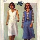 Simplicity 8013 Misses Pantskirt Vest 70s Vtg Sewing Pattern Size 12