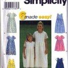 Simplicity 8030 Girls Dress, Sundress Sewing Pattern Size 3, 4, 5, 6