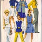 Simplicity 8045 Misses 60s Skirt, Blouse, Pants Sewing Pattern Size 12