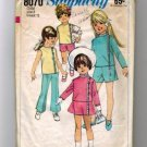 Simplicity 8070 Girls 60s Pants Skirt Jacket Top Sewing Pattern Size 2