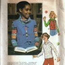 Simplicity 8126 Girls 70s Cowl Top, Vest Sewing Pattern Size LG
