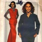 Simplicity 8147 Misses 70s Pullover Top, Pants Sewing Pattern Size 10