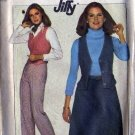 Simplicity 8156 Misses 70s Vest, Skirt, Pants Sewing Pattern Size 10