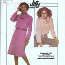 Simplicity 8162 Misses Cowl Collar Top, Skirt Sewing Pattern Sz 14, 16