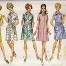 Misses 60s Front Zip Dress Sewing Pattern Simplicity 8285 Size 14