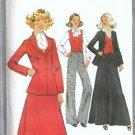 Simplicity 8298 Jacket, Skirt, Pants, Vest 70s Sewing Pattern Size 14