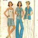 Simplicity 6984 Misses Shirt, Pants, Shorts Sewing Pattern Size 14 1/2