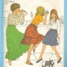 Girls 70s Skirt Retro Sewing Pattern Size 14 Simplicity 8326