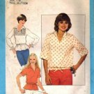 Misses 70s Pullover Top Sewing Pattern Size 7, 8 Simplicity 8337