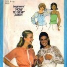 Simplicity 8344 Misses Sheer Blouse, Camisole Sewing Pattern Size 6, 8