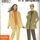 Simplicity 8348 Misses Jacket, Pants Sewing Pattern Size 6, 8, 10, 12