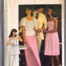 Simplicity 8351 Miss Shirred Dress Top Pants Skirt Sewing Pattern Sz 8