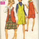 Simplicity 8355 Misses 60s Jumper, Vest, Skirt Sewing Pattern Size 16