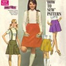Simplicity 8363 Misses 60s Skirt, Suspenders Sewing Pattern Size 10