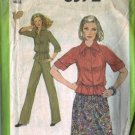 Simplicity 8372 Misses 70s Top, Skirt, Pants Sewing Pattern Size 10