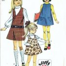 Simplicity 8372 Girls Jumper 60s Vintage Sewing Pattern Size 8