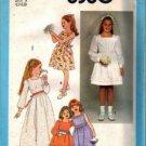 Simplicity 8380 Girls Long, Short Dress Vintage Sewing Pattern Size 5