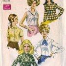 Simplicity 8399 Misses 60s Blouse Vintage Sewing Pattern Plus Size 40