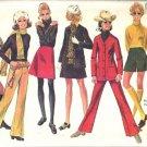 Simplicity 8409 Miss Jacket, Pantskirt 60s Sewing Pattern Size 7/8