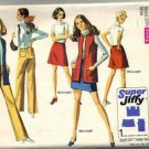 Simplicity 8411 Misses Skirt Vest Hip Hug Pants Sewing Pattern Size 12