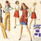 Simplicity 8411 Misses Skirt Vest Hip Hug Pants Sewing Pattern Size 14