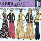 McCalls 3857 Misses Jacket Top Skirt Pants Vtg Sewing Pattern Sz 12