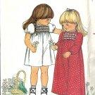 Butterick 3594 Girls 70's Maxi Dress Vintage Sewing Pattern Size 1