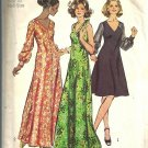 Simplicity 5432 Misses Halter Dress 70s Sewing Pattern Half Size 20 1/2 Bust 43