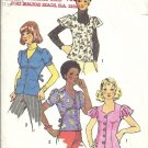 Simplicity 5803 Misses Sweetheart Blouse Vintage Sewing Pattern Size 12