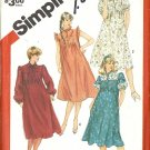 Simplicity 5769 Misses Pleated Maternity Dress 80s Vintage Sewing Pattern Size 8