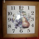WALL CLOCK TILE AND WOOD FRAME  -INGRAHAM