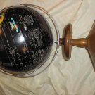 world globe 21 inches tall sitting on pedestal