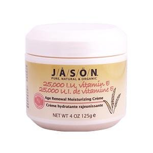 Jason Natural, 25,000 IU Vitamin E Age Renewal Moisturizing Creme, 4 oz (125 g)