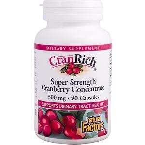 Natural Factors, CranRich, Super Strength Cranberry Concentrate, 500 mg, 90 Capsules