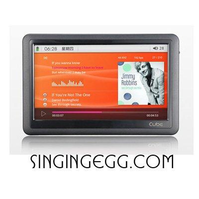 CUBE 7inch H900HD 8GB FULL HD 1280P HDMI MP5 MP3 MP4 player