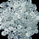 Lot 72 pcs 18L White 2 Hole Buttons