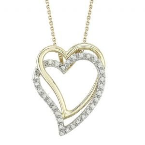 14K TWO TONE GOLD DIAMOND NECKLACE