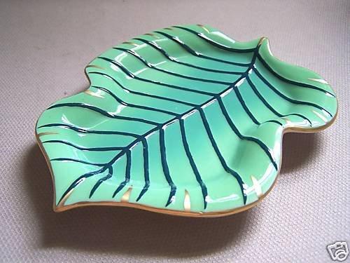 LYNN CHASE Jaguar Jungle Leaf Trinket Tray New