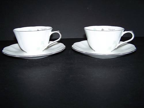 WATERFORD Marc Jacobs Elizabeth Cup Saucer Set/2 New