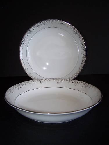 WATERFORD Fine China Giselle Pasta Bowl Set/2 New