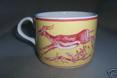 Lynn Chase Cup African Inspirations Cranberry  Yellow  New