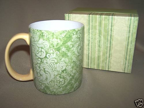 LANG Ceramic Mug Easton Damask by Jamey Berger  NIB
